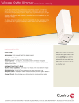 Control4 Wireless Outlet Dimmer User's Manual