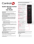 Control4 C4-SR250-Z-B User's Manual