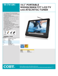 COBY electronic TF-TV1091 User's Manual