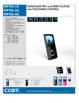 COBY electronic mp705-4G User's Manual