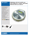 COBY electronic MP-CD571 User's Manual