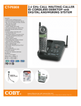 COBY electronic CT-P8800 User's Manual