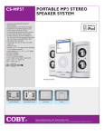 COBY electronic CS-MP57 User's Manual