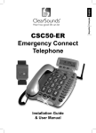 ClearSounds CSC50-ER User's Manual