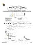 Chief Manufacturing FSA-1003 User's Manual