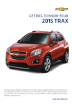 Chevrolet 2015 Trax Get To Know Manual