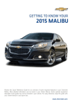 Chevrolet 2015 Malibu Get To Know Manual