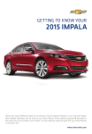 Chevrolet 2015 Impala Get To Know Manual