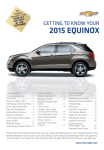 Chevrolet 2015 Equinox Get To Know Manual