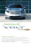Chevrolet 2014 Volt Get To Know Manual