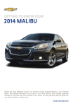 Chevrolet 2014 Malibu Get To Know Manual