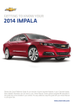Chevrolet 2014 Impala Get To Know Manual