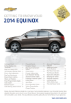 Chevrolet 2014 Equinox Get To Know Manual
