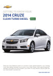 Chevrolet 2014 Cruze Get To Know Manual