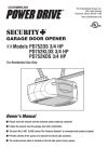 Chamberlain PD752DS User's Manual