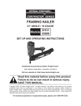 Central Pneumatic 93909 User's Manual