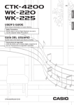 Casio WK225 User's Manual