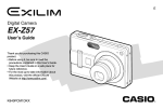 Casio EX-Z57 User's Manual