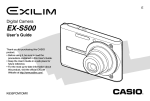 Casio EX-S500 User's Manual