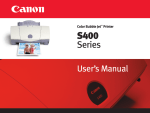 Canon S400 User's Manual