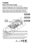 Canon Printing Using a Direct Camera/Printer Connection Direct Print User's Manual