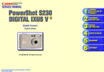 Canon PowerShot S230 User's Manual