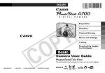 Canon PowerShot A700 User's Manual