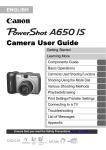 Canon A650 User's Manual