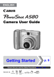 Canon PowerShot A580 User's Manual