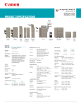 Canon C9065S Specification Sheet