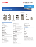 Canon C5235 Specification Sheet