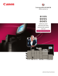 Canon imageRUNNER ADVANCE 8085 Read Only Brochure