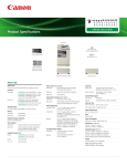 Canon imageRUNNER 2535 Specification Sheet