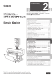 Canon iPF815 Basic Guide