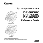 Canon DR-6050C Owner's Manual