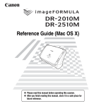 Canon DR-2010M Owner's Manual