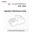 Canon CR-190i Owner's Manual