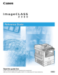 Canon imageCLASS 2300N Reference Guide