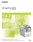 Canon imageCLASS 2300N Network Guide