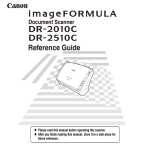 Canon DR-2510C User's Manual