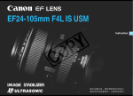 Canon EF24-105MM User's Manual