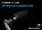 Canon EF180mm User's Manual