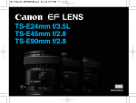Canon TS-E24MM User's Manual