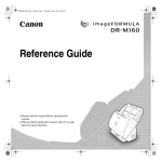 Canon DR-M160 User's Manual