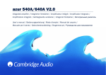 Cambridge Audio Azur 640A User's Manual