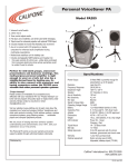 Califone PA-285 User's Manual