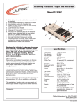 Califone Economy 3132AV User's Manual