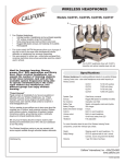 Califone CLS725 User's Manual