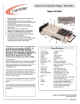 Califone Classroom 3432AV User's Manual