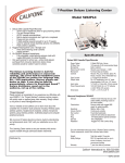 Califone 5262PLC User's Manual